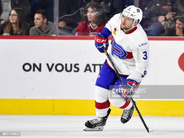 Jakub Jerabek of the Laval Rocket skates against the Binghamton Devils during the AHL game at Place Bell on October 13 2017 in Laval Quebec Canada...