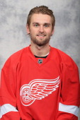 Jakub Kindl of the Detroit Red Wings poses for his official headshot for the 20122013 season at Compuware Ice Arena on January 13 2013 in Plymouth...