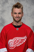 Jakub Kindl of the Detroit Red Wings poses for his official headshot for the 20142015 season on September 18 2014 at Joe Louis Arena in Detroit...
