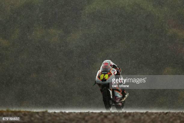 Jakub Kornfeil of the Czech Republic and Peugeot MC Saxoprint rides during free practice for Moto3 at Circuito de Jerez on May 5 2017 in Jerez de la...