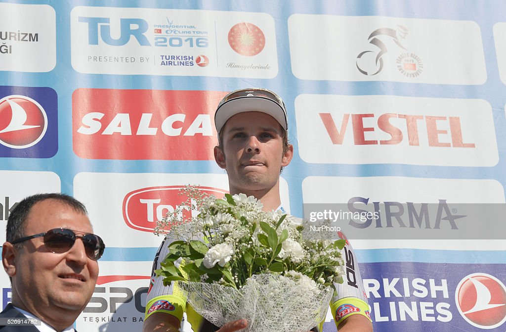 Jakub Mareczko from Southeast-Venezuela team wins the last stage, of the Tour of Turkey 2016. Jose Goncalves, a rider from Caja Rural Seguros RGA, wins the 52nd edition of the Presidential Tour of Turkey 2016. On Sunday, 1 May 2016, in Selcuk, Turkey.