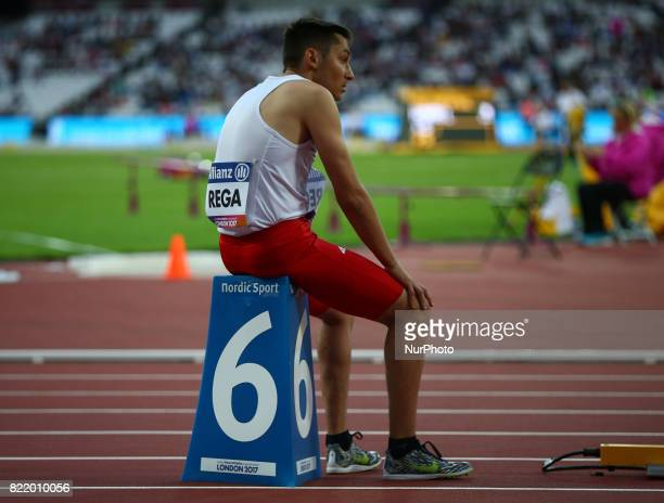 Jakub Rega of Poland compete Men's 400m T36 Final during World Para Athletics Championships at London Stadium in London on July 21 2017