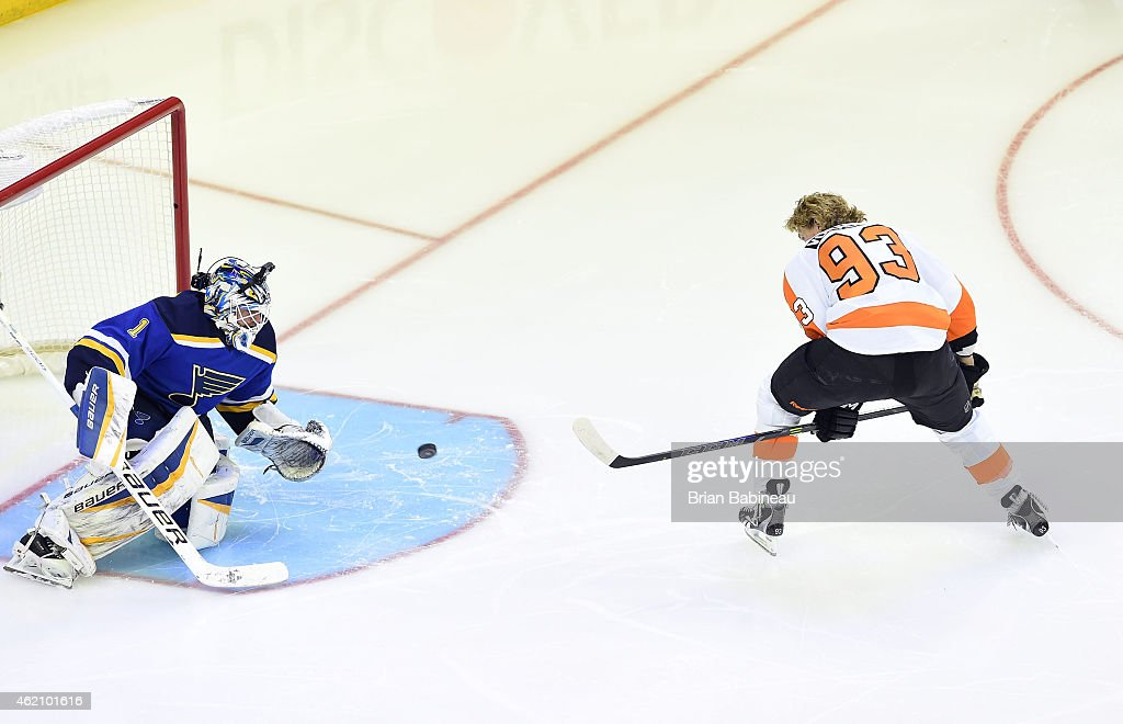 Jakub Voracek #93 of the Philadelphia Flyers and Team Toews competes in the Honda NHL Breakaway Challenge event of the 2015 Honda NHL All-Star Skills Competition at Nationwide Arena on January 24, 2015 in Columbus, Ohio.