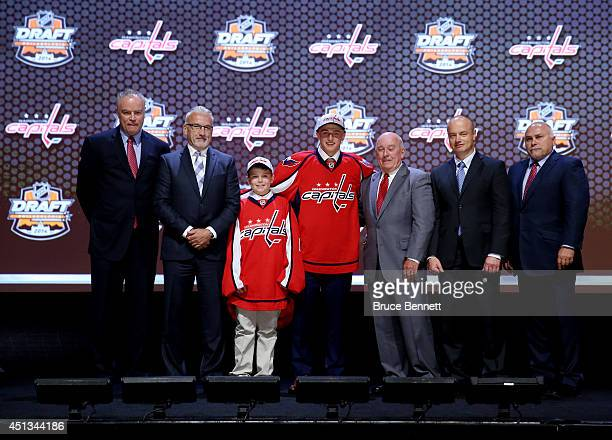 Jakub Vrana is selected thirteenth overall by the Washington Capitals in the first round of the 2014 NHL Draft at the Wells Fargo Center on June 27...