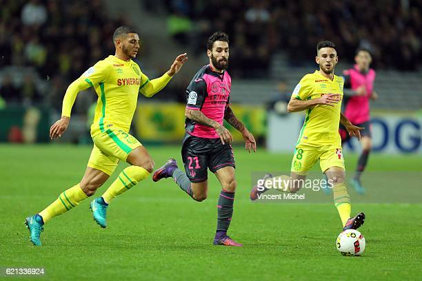 Jakup Durmaz of Toulouse during the Ligue 1 match between Fc Nantes and Toulouse Fc at Stade de la Beaujoire on November 5 2016 in Nantes France