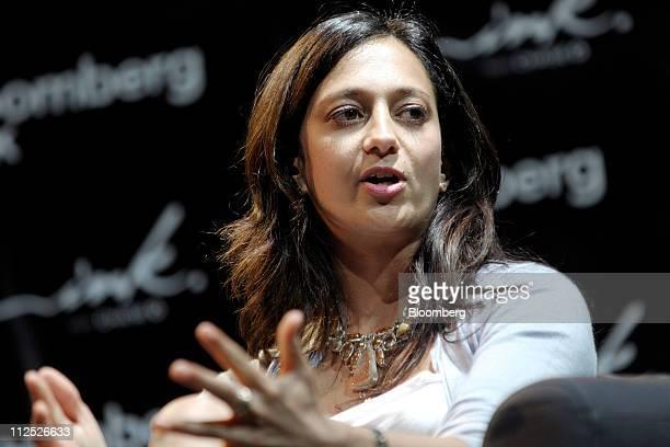 Jalak Jobanputra director of investments for Omidyar Network speaks at Bloomberg Link Empowered Entrepreneur Summit in New York US on Thursday April...