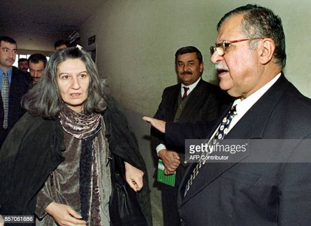 Jalal Talabani leader of the Patriotic Union of Kurdistan party and his wife Hero are pictured in the northern Iraqi Kurdish city of Suleimaniyeh...