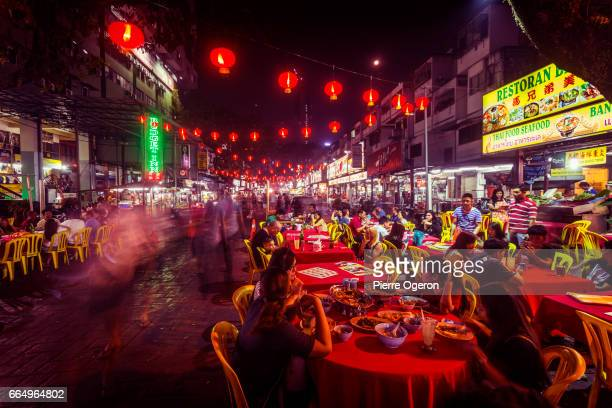 Jalan Alor food street at night