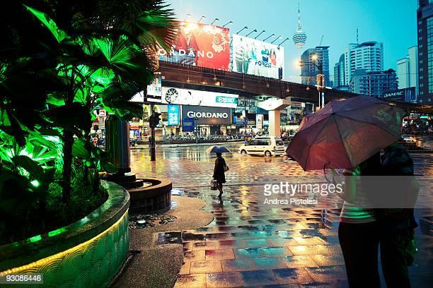 Jalan Bukit Bintang shopping road in Kuala Lumpur Malaysia