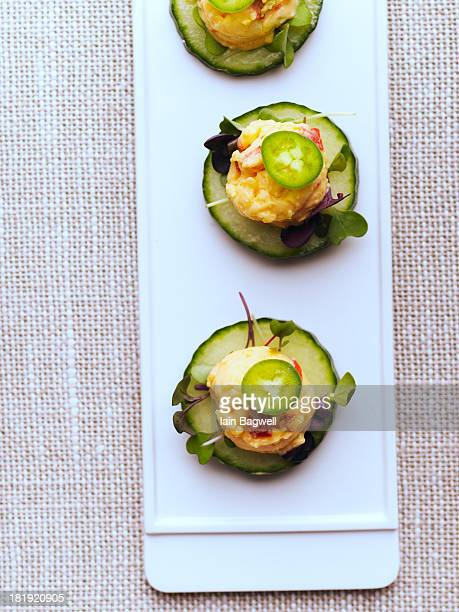 Jalapeno Pimento Cheese on European Cucumber
