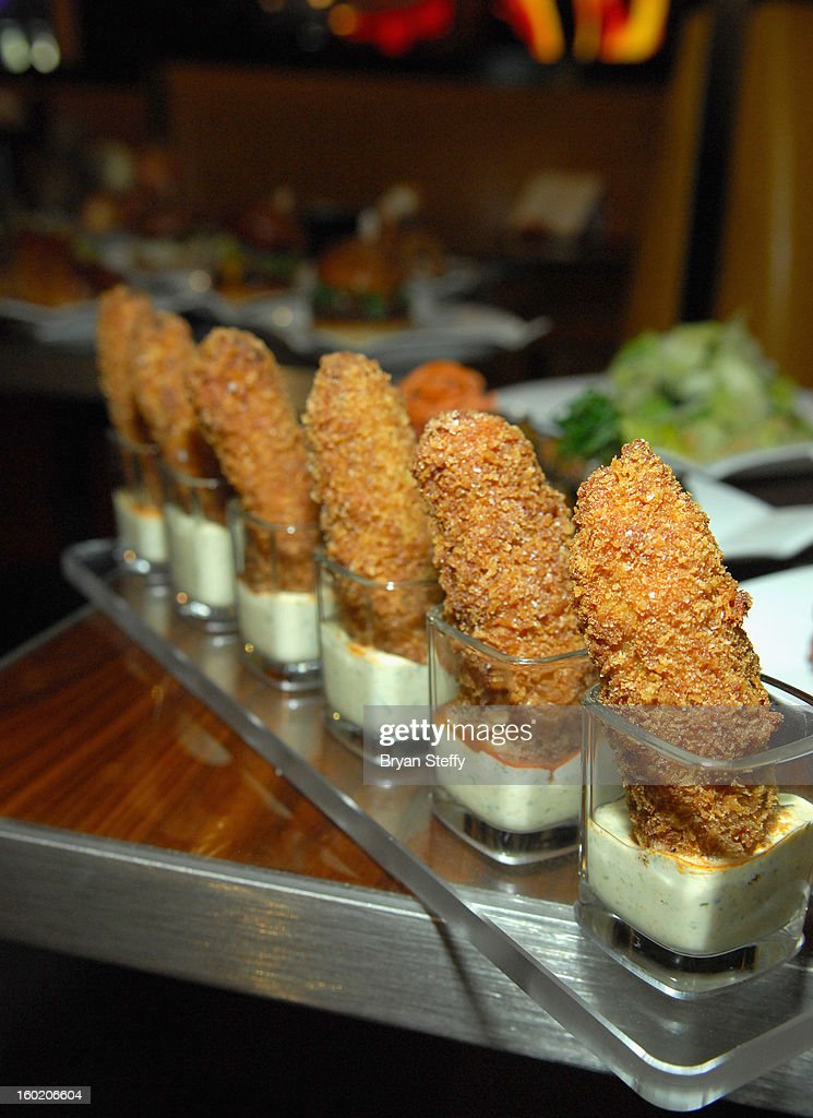 Jalapeno poppers are displayed at television personality and chef Gordon Ramsay's new restaurant Gordon Ramsay BurGR at Planet Hollywood Resort & Casino during a traditional Sunday Roast in celebration of the opening of the restaurant as well as Gordon Ramsay Pub & Grill at Caesars Palace on January 27, 2013 in Las Vegas, Nevada.