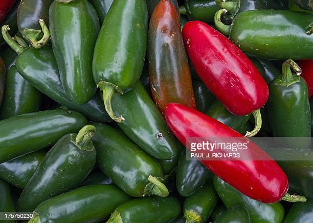 Jalapenos are seen for sale at a local 'Farmer's Market' August 7 in Oakton Virginia AFP Photo/Paul J Richards