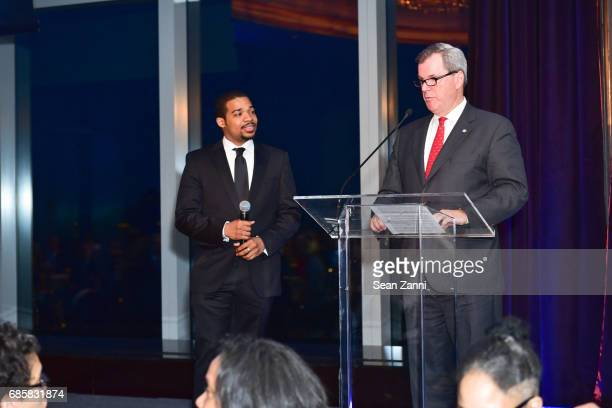 Jalen Bowers and Bill Tyree attend The Boys' Club of New York Annual Awards Dinner at Mandarin Oriental Hotel on May 17 2017 in New York City
