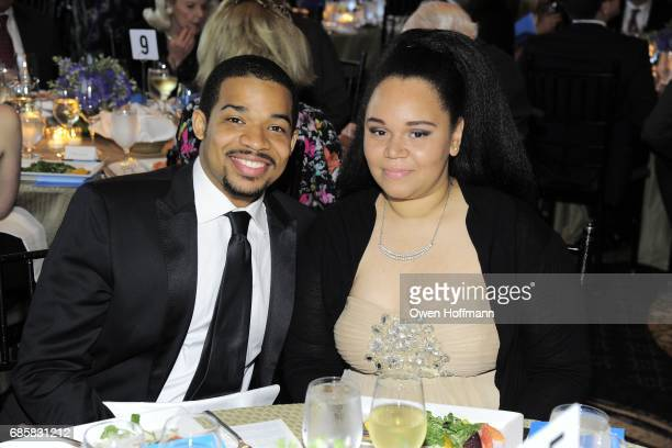 Jalen Bowers and Brittany Ellis attend The Boys' Club of New York Annual Awards Dinner at Mandarin Oriental on May 17 2017 in New York City
