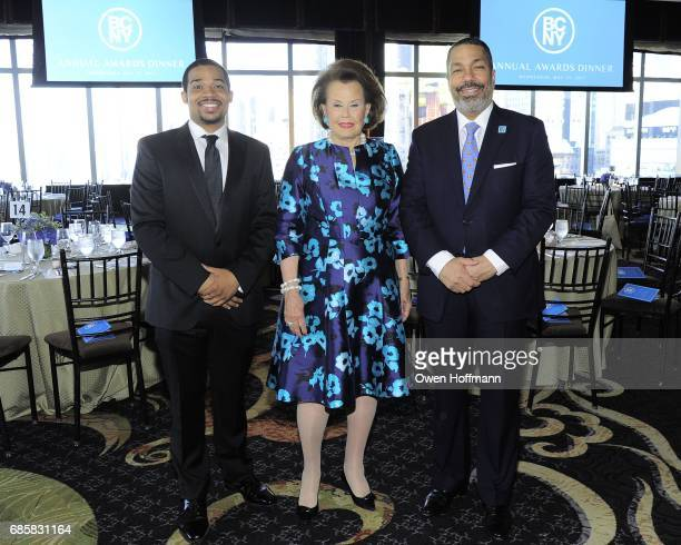 Jalen Bowers Hildegarde 'Hillie' Mahoney and Valentino Carlotti attend The Boys' Club of New York Annual Awards Dinner at Mandarin Oriental on May 17...