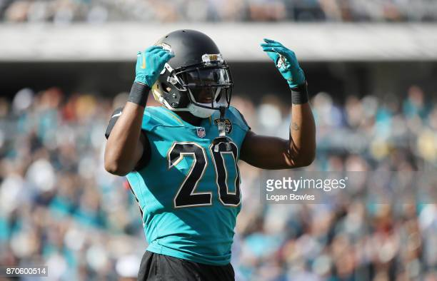 Jalen Ramsey of the Jacksonville Jaguars waits on the field in the first half of their game against the Cincinnati Bengals at EverBank Field on...