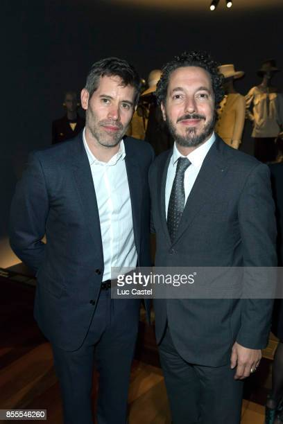 Jalil Lespert and Guillaume Gallienne attend the Opening Party at Yves Saint Laurent Museum as part of the Paris Fashion Week Womenswear...