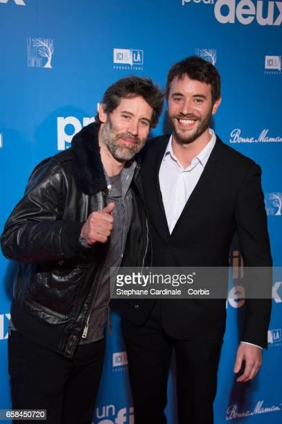 Jalil Lespert and Yaniss Lespert attend the 'Un Profil Pour Deux' Premiere at Cinema UGC Normandie on March 27 2017 in Paris France