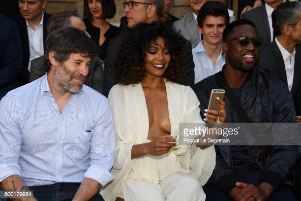 Jalil LespertGabrielle Union and Dwyane Wade attend the Berluti Menswear Spring/Summer 2018 show as part of Paris Fashion Week on June 23 2017 in...