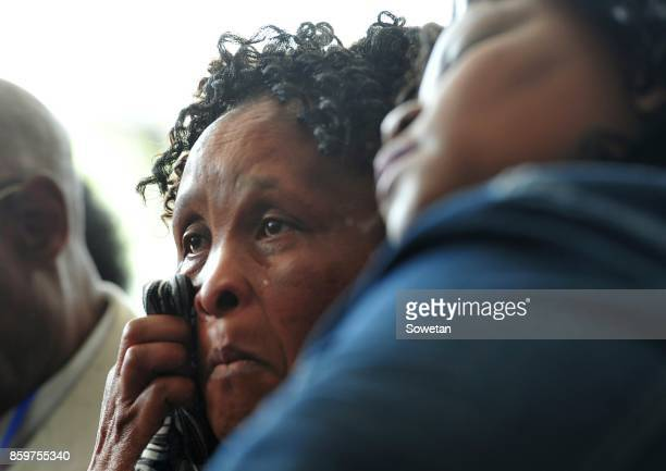 Jalisile Ngqondwana who is a mother to one of the victims couldnt hold back tears during the Life Esidimeni arbitration hearing at Emoyeni Conference...