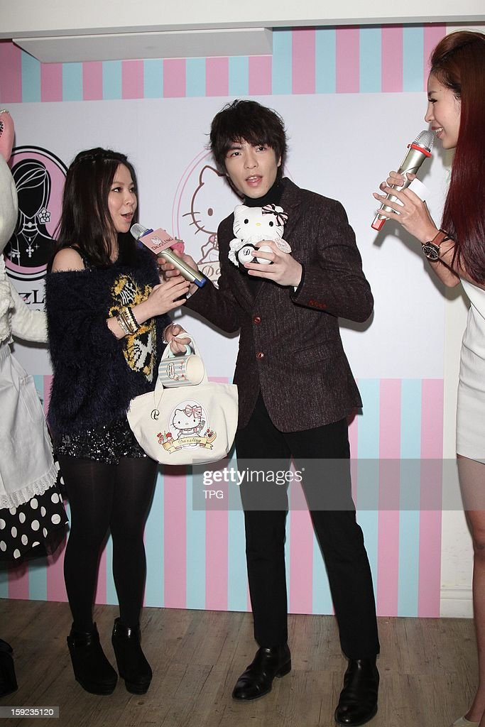 Jam Hsiao attend Hello Kitty Honey Toast activity on Thursday January 10,2013 in Taipei,Taiwan, China.