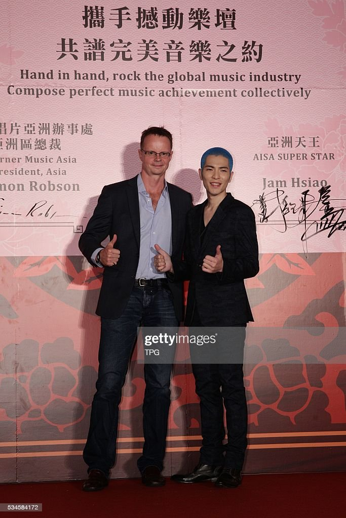 Jam Hsiao attends hand in hand,rock the global music industry compose perfect music achievement collectively on 26th May, 2016 in Taipei, Taiwan, China.