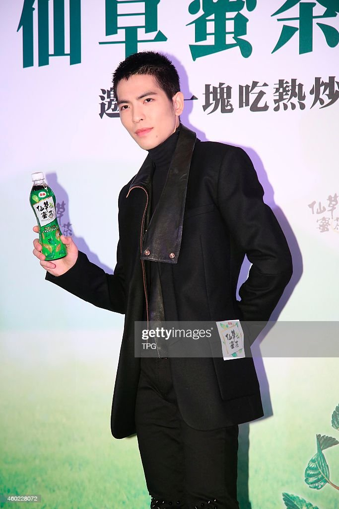 Jam Hsiao promotes for a drink on 09th December 2014 in Taipei Taiwan China