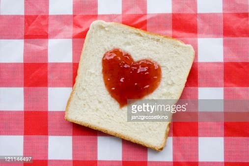 Jam on bread : Stock Photo