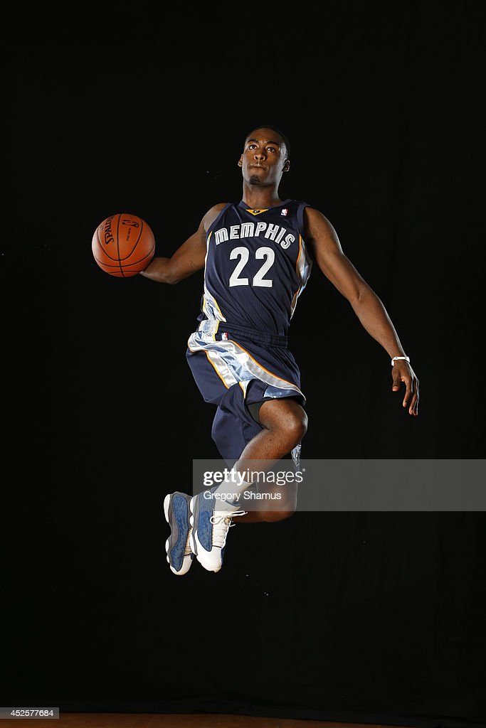 Jamaal Franklin #22 of the Memphis Grizzlies poses for a portrait during the 2013 NBA rookie photo shoot on August 6, 2013 at the Madison Square Garden Training Facility in Tarrytown, New York.