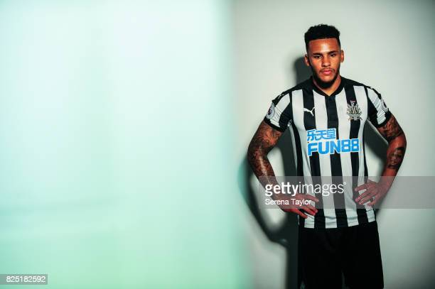 Jamaal Lascelles during the Newcastle United Media Photo Call Day at the Newcastle United Training ground on July 31 in Newcastle upon Tyne England