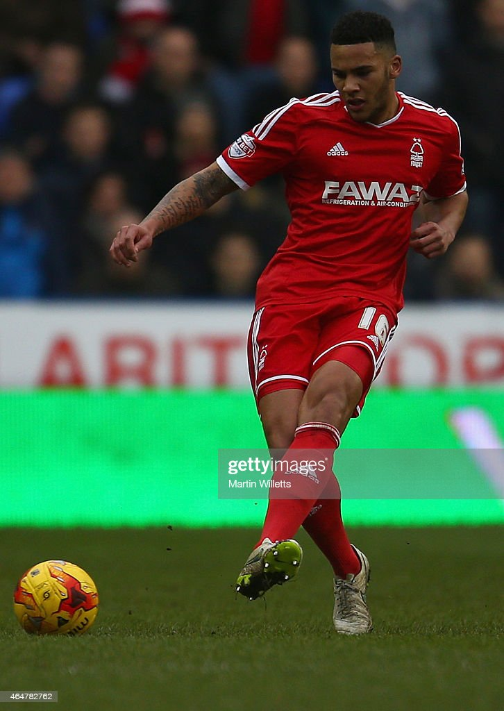 Jamaal Lascelles of Nottingham Forest during the Sky Bet Championship match between Reading and Nottingham Forest at Madejski Stadium on February 28, 2015 in Reading, England.