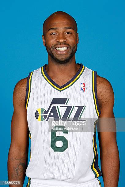 Jamaal Tinsley of the Utah Jazz poses for a photo during media day at Zions Basketball Center on October 01 2012 in Salt Lake City Utah NOTE TO USER...