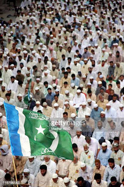JamaateIslami activists offer prayers during a protest rally against US drone attacks in the country on June 5 2011 in Karachi Pakistan Following the...