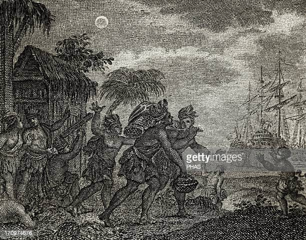 Jamaica 15th century Second Voyage of Columbus Jamaicans refuse to give food to Columbus and he knowing that there will be a lunar eclipse tells them...