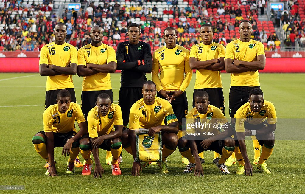 Jamaica line up for a team picture prior to the International Friendly match between Canada and Jamaica at BMO Field on September 09 2014 in Toronto...