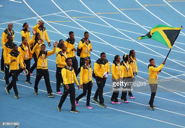 Jamaica parade on track during the 2017 Youth Commonwealth Games Opening Ceremony on day 1 of the 2017 Youth Commonwealth Games at the Thomas A...