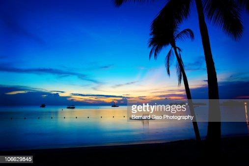 Jamaican Beach, Sunset