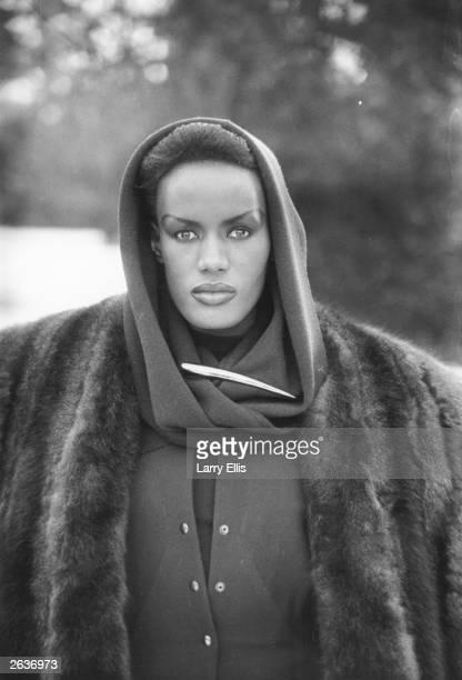 Jamaican born singer actress and fashion model Grace Jones