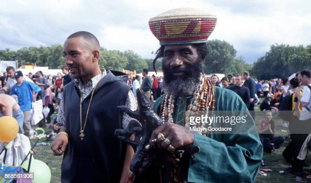 Jamaican music producer Lee Scratch Perry at Respect Festival Finsbury Park London 21st July 2001