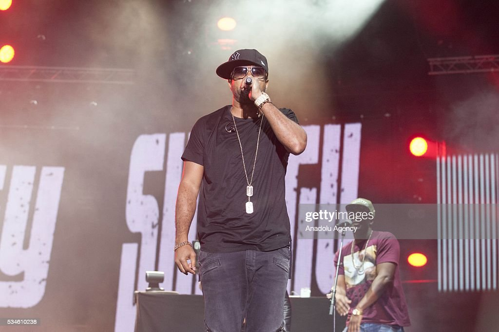 Jamaican musician Shaggy (Orville Richard Burrell) performs during the 15th International Mawazine Music festival at Nahda concert area, in Rabat, Morocco on May 27, 2016.