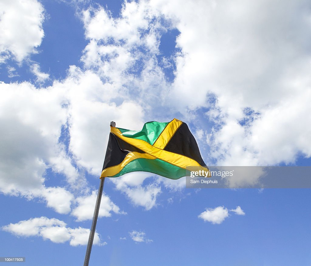 Jamaican National Flag : Stock Photo