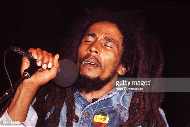Jamaican Reggae musician Bob Marley performs onstage New York New York October 1979