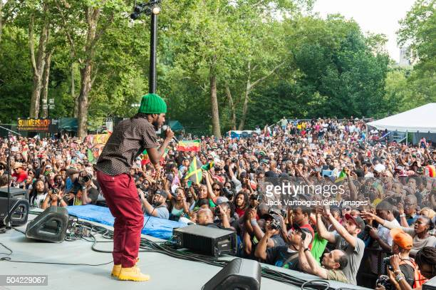 Jamaican Reggae musician Chronixx headlines an afternoon concert at Central Park SummerStage New York New York July 26 2014