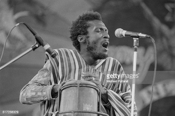 Jamaican reggae musician Jimmy Cliff performing at the Capital Radio Jazz Festival at Knebworth House Hertfordshire 17th July 1982