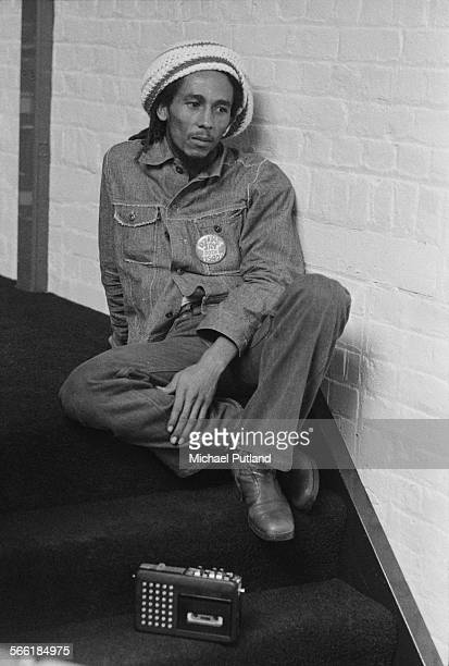 Jamaican reggae singersongwriter and musician Bob Marley at the offices of Island Records London 24th July 1975