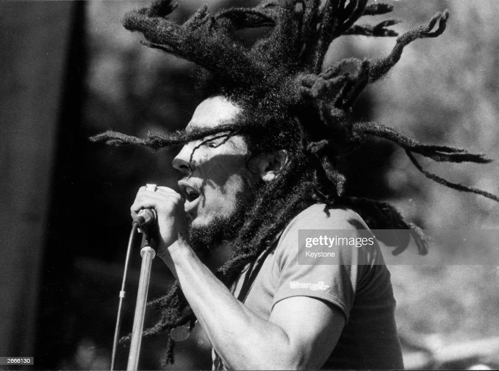 Jamaican reggae star <a gi-track='captionPersonalityLinkClicked' href=/galleries/search?phrase=Bob+Marley&family=editorial&specificpeople=240470 ng-click='$event.stopPropagation()'>Bob Marley</a> (1945 - 1981).