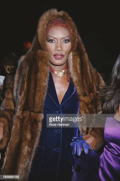 Jamaican singer actress and model Grace Jones attends the 'Made In Italy' awards ceremony at Cipriani 42nd Street New York City 2000