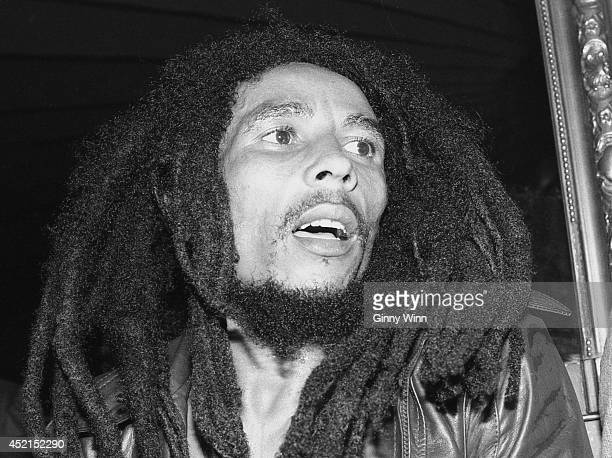 Jamaican singer and songwriter Bob Marley July 26 1978 at The Daisy In Beverly Hills California