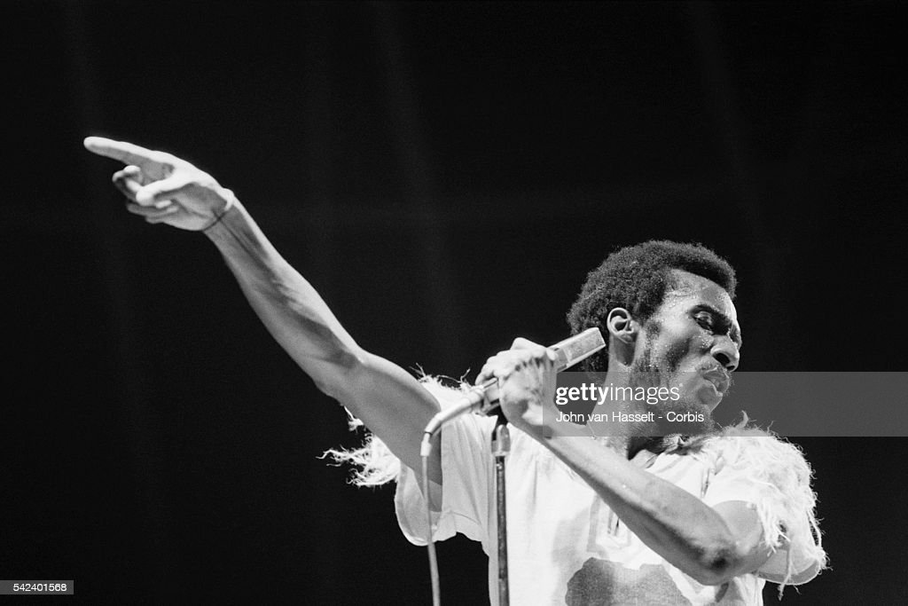 Jamaican singer Jimmy Cliff performs on stage at Porte de Pantin, in Paris.