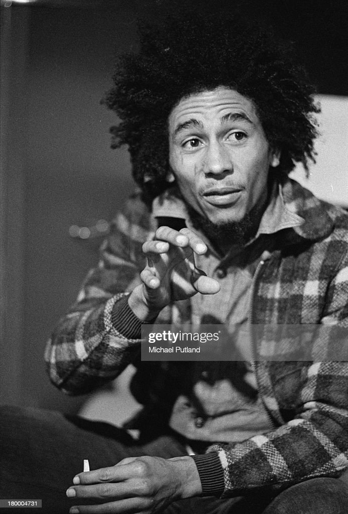 Jamaican singer-songwriter <a gi-track='captionPersonalityLinkClicked' href=/galleries/search?phrase=Bob+Marley+-+Musician&family=editorial&specificpeople=240470 ng-click='$event.stopPropagation()'>Bob Marley</a> (1945 - 1981), of <a gi-track='captionPersonalityLinkClicked' href=/galleries/search?phrase=Bob+Marley+-+Musician&family=editorial&specificpeople=240470 ng-click='$event.stopPropagation()'>Bob Marley</a> and the Wailers, 31st May 1973.